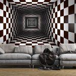 کاغذ دیواری طرح شطرنجی