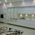 کابینت های گلاس سفید مدرن