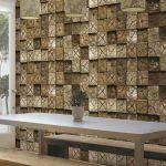 کاغذ دیواری کره ای طرح چوب