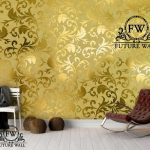 کاغذ دیواری آیینه ای ۳ بعدی طلایی