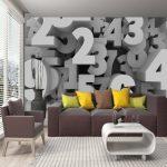 کاغذ دیواری طرح عدد