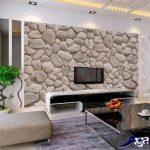 کاغذ دیواری طرح سنگ قلوه ای