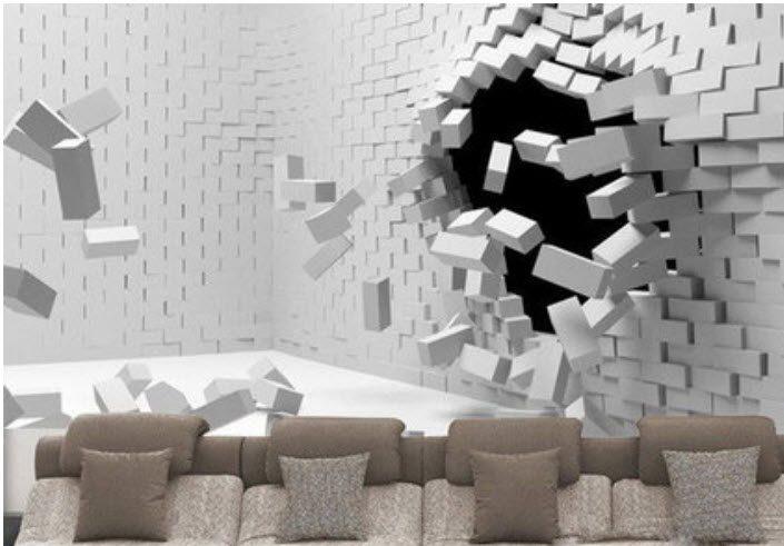 کاغذ دیواری های سه بعدی به دلیل تنوع بالا ، برای انواع سلیقه ها زیبا و چشمگیر هستند.