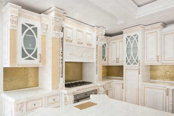 کابینت آشپزخانه معرق و منبت