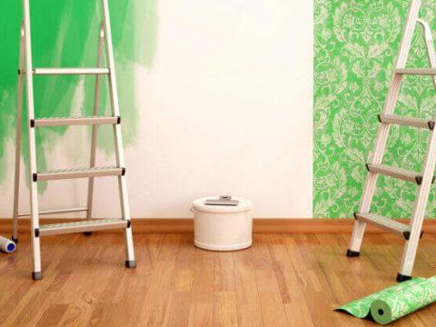مقایسه کاغذ دیواری و رنگ