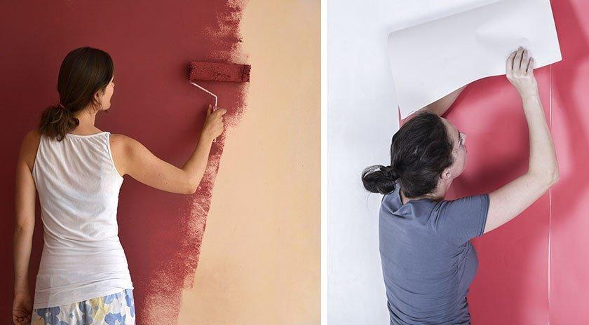 معایب کاغذ دیواری نسبت به رنگ